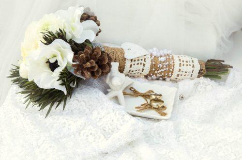 Букет цветов и кольца